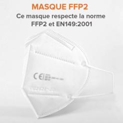 Masques De Protection Respiratoire FFP2 - PM2,5 Anti-Poussière - Anti-Pollution - Efficace Contre Ebola Et Coronavirus